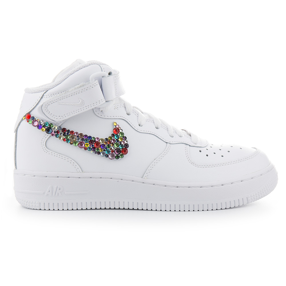 Custom Nike Air Force 1 White Rainbow Muti Color | Nike