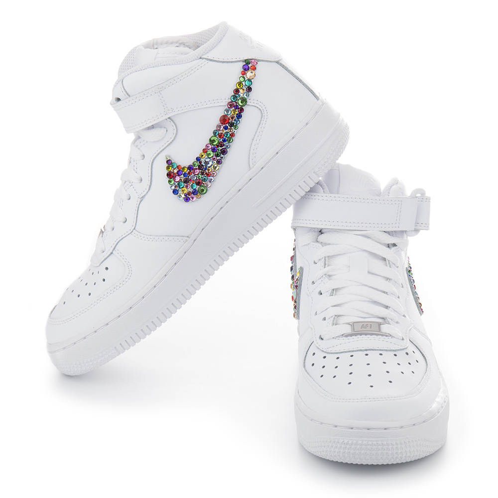 Nike Air Force 1 Crystal White Multicolor